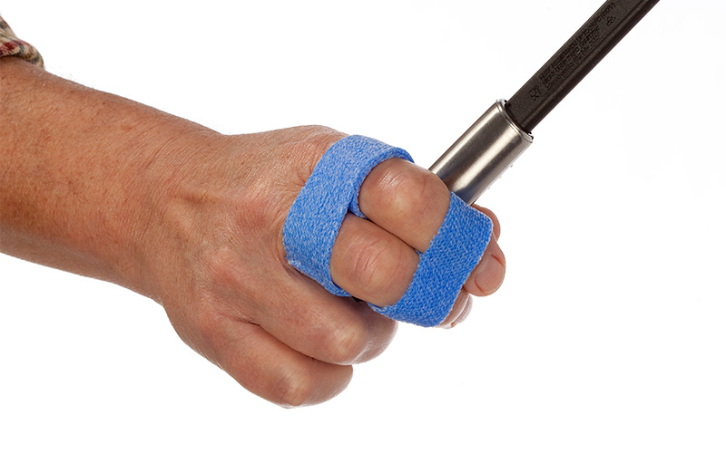 Buddy tapes in Orficast Blue for finger sports injuries