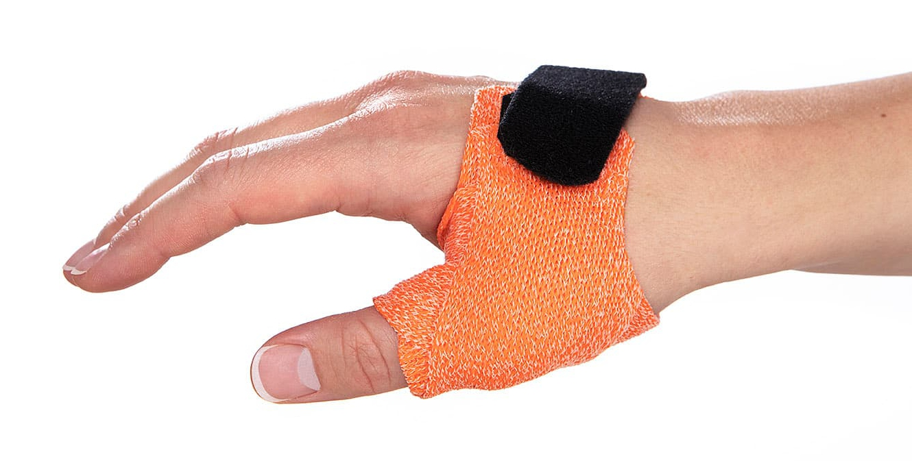Short Thumb Opponens Orthosis in Orficast Orange