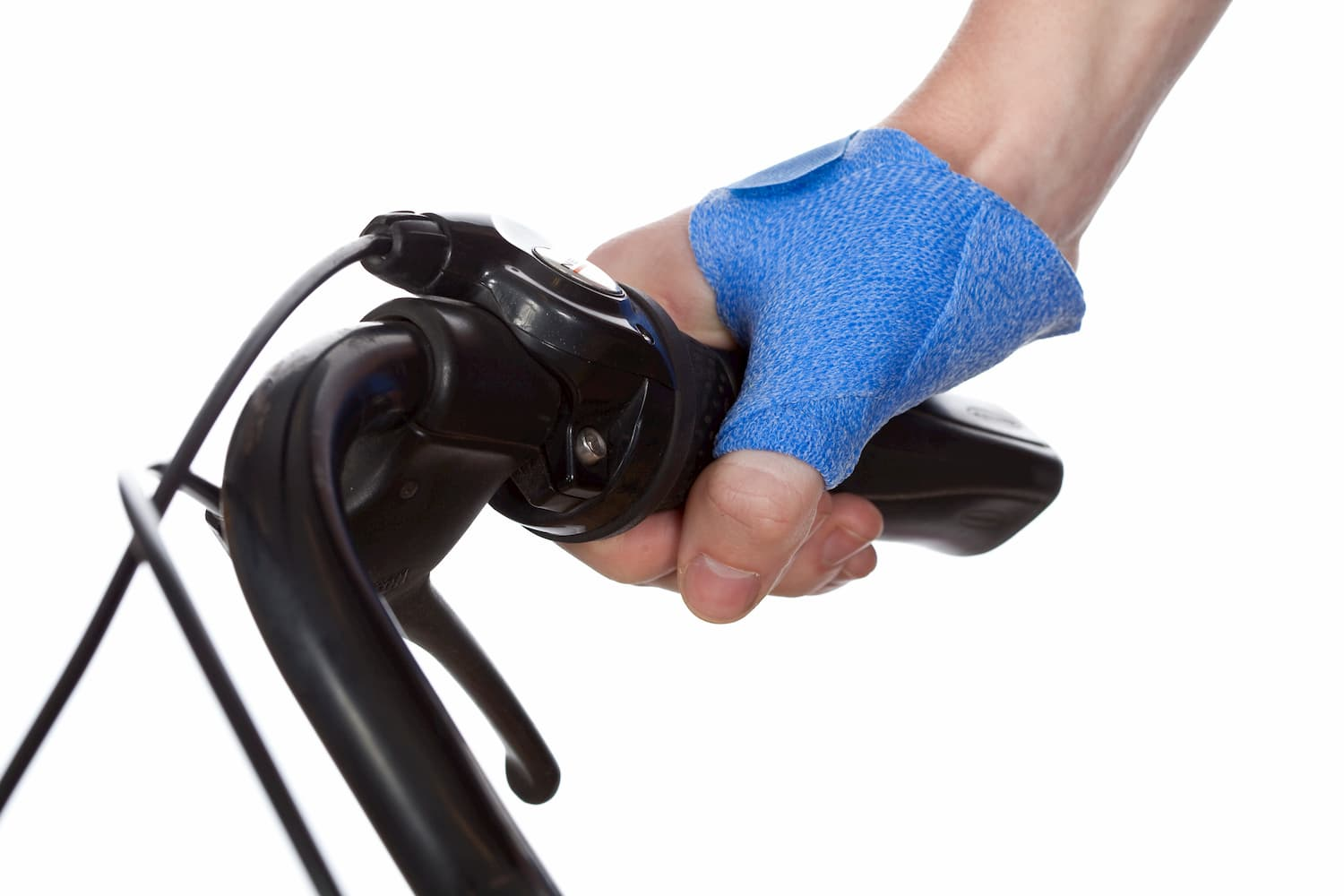 Short thumb opponens orthosis and bicycle