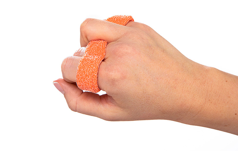 Relative motion orthosis in orficast Orange