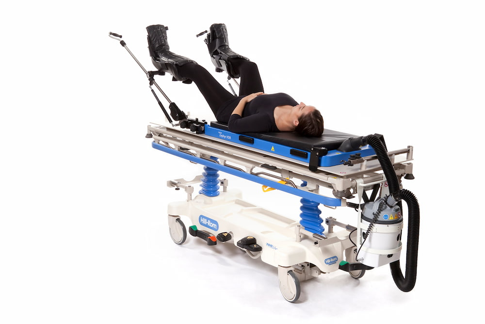 Zephyr Patient Positioning and Transfer System with patient
