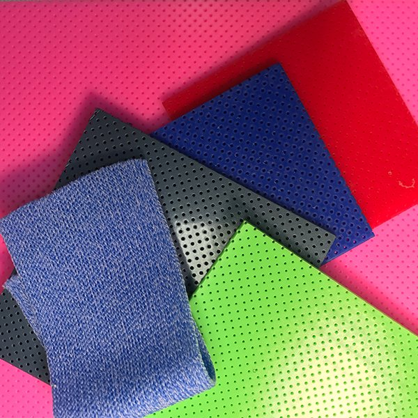 A pile of colorful thermoplastic materials for orthotic fabrication