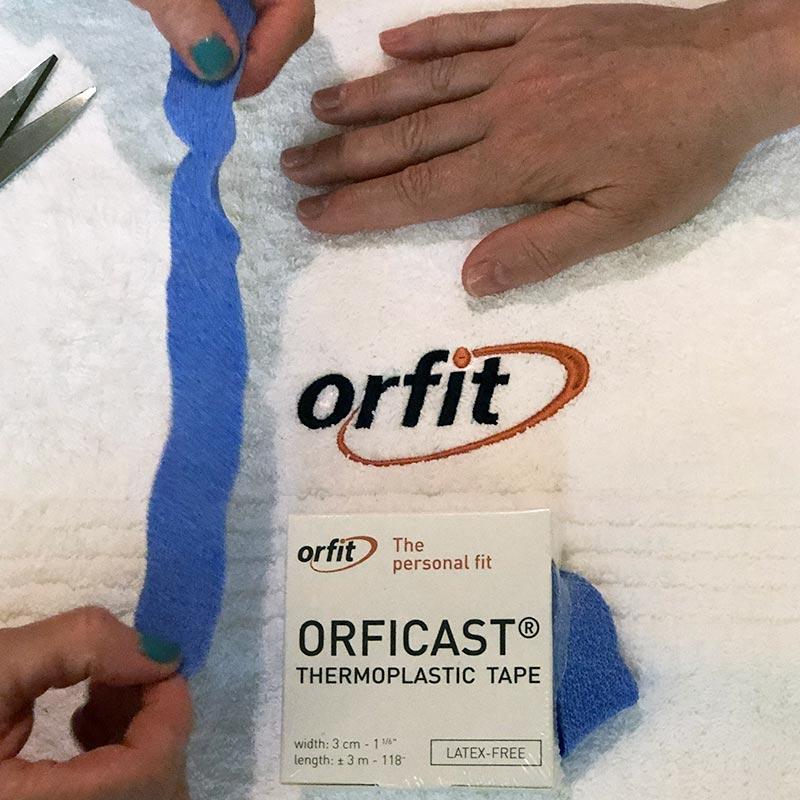 Measuring Orficast for the full finger wrap