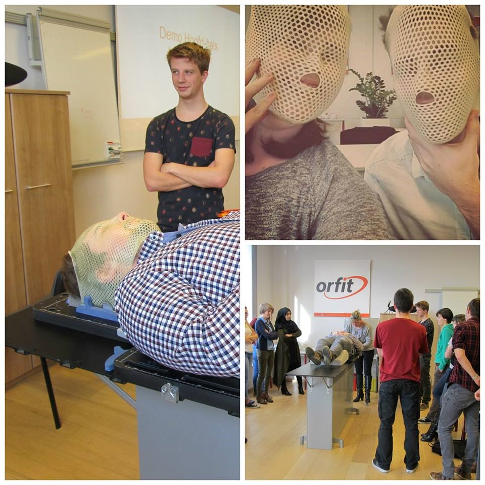 Training thermoplastic masks collage